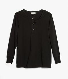 206 henley long sleevedeep black