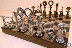 ボルト・ナットの仕組みになったチェス