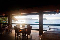 Sunlight in the restaurant