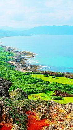 Taiwan | Kenting National Park is revered for its rich colors, white-sand beaches, caves, coral reefs, northern mountains, and lush landscapes.