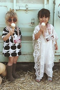 Little Mykonos Kaftan romantic shell for little girls