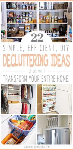 Start the new year off clean and organized with these 22 simple ways to declutter your home! Ideas to clean up your closet, organize your pantry, keep kid's clutter at bay, and more! Check out these awesome organization projects for your home! #organization #decluttering #clutterorganization