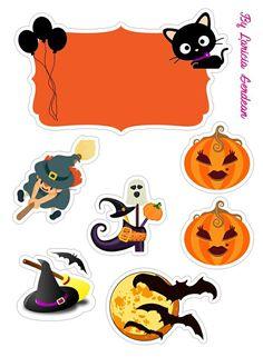 Monster High Halloween, Bolo Halloween, Art Halloween, Halloween Cakes, Diy Halloween Decorations, Halloween 2020, Holidays Halloween, Scrapbook Stickers, Planner Stickers