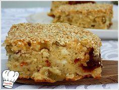 ΕΛΙΟΠΙΤΑ ΠΑΝΕΥΚΟΛΗ ΜΕ ΑΛΕΥΡΙ ΧΩΡΙΑΤΙΚΟ!!! | Νόστιμες Συνταγές της Γωγώς Greek Recipes, Banana Bread, Muffin, Snacks, Breakfast, Desserts, Savoury Pies, Greek Beauty, Pastries