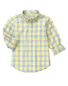 Yellow dress shirt toddler