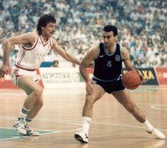 6/6/1987 EUROBASKET 1987. GREECE - SOVIET UNION 66 - 69.-----Nikos GALIS against Valdemaras Homicius.