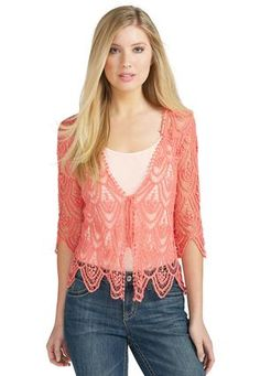 20a5e2e33 Cato Fashions Crochet Cardigan - Plus  CatoFashions Sweater Jacket