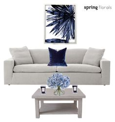 """""""Spring Flowers Decor #29"""" by viviannabas ❤ liked on Polyvore featuring interior, interiors, interior design, home, home decor, interior decorating, Leftbank Art, Rachel Ashwell, Ethan Allen and Coqui Coqui"""