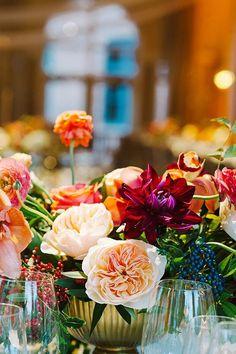 Jewel-toned centerpieces   Brides.com