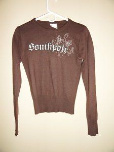 $22.95 Women's South Pole 100% Cashmere Brown Sweater Size: Large