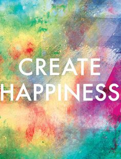 Create Happiness Canvas Print