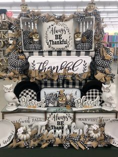thankful wall art and pillow