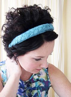 Use a blank headband or upcycle one with this cool braid made from fabric strips. See how it was done at Alisa Burke