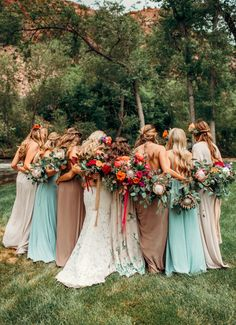 Stunning bridesmaid dress + bouquet combo for a summer festival wedding | Image by Shannon Lee Miller #bridesmaids #bridesmaidbouquets #weddingbouquet #bridalbouquet #bridesmaidsfashion #bridesmaidsstyle #maxidresses #bohowedding #bohemianweddinginspiration #gardenwedding #summerweddingbouquet #summerwedding #bridalparty