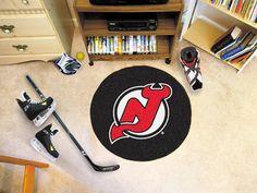 NHL New Jersey Devils Hockey Puck Doormat