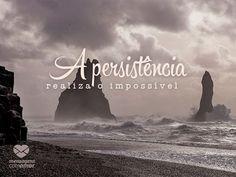 A persistência realiza o impossível. #mensagenscomamor #persistência #realização #frases