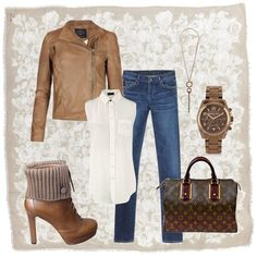 Minus the tacky LV print, style-wise this is on point!