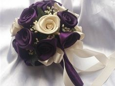 Plum and Ivory Bouquet