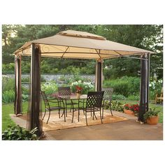 CASTLECREEK ™ 10x12' Classic Garden Gazebo offers portable shade 'n' shelter!