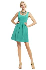 Another fave rental, Teal Pearl of Wisdom Dress by Shoshanna, renttherunway.com