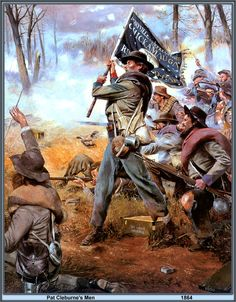 *PATRICK RONAYNE CLEBURNE's MEN ~ (March 1828 – November was an Irish-born American soldier, best known for his service in the Confederate States Army during the American Civil War, where he rose to the rank of major general. Civil War Flags, Civil War Art, Military Art, Military History, Southern Heritage, Southern Men, Confederate States Of America, Civil War Photos, Historical Art