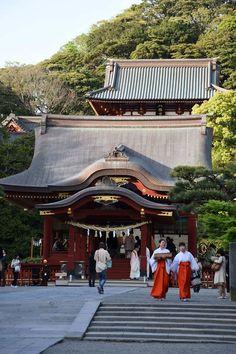Tsurugaoka Hachimangu Shrine in Kamakura, Kanagawa Prefecture.