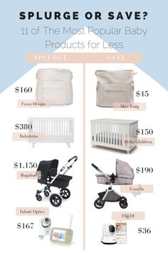 Splurge or Save Where to find 11 of The Most Popular Baby Products for Less Cas. Splurge or Save Where to find 11 of The Most Popular Baby Products for Less Cas. Check more at babyzimmer. Baby Registry Essentials, Baby Registry Must Haves, Baby Registry Items, Newborn Essentials List, Baby Registry Checklist, Newborn Clothes Checklist, Diaper Bag Checklist, New Baby Checklist, Diaper Bag Essentials