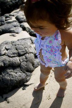 Baby, Toddler Girls ruffle bikini, swim suit...Kimi & Li Bikini