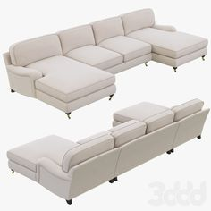 Restoration Hardware English Roll Arm Upholstered U-Chaise Sectional