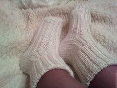Купить Носочки женские ( Козий пух + альпака) - белый, носочки, носочки в подарок