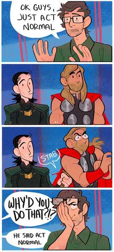 """Pierce told BuzzFeed that the """"sibling bond"""" between Thor and Loki is what makes them such prime subjects for comics."""