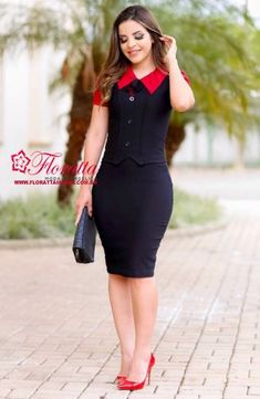 Beautiful dress cute Love this ❤ Business Professional Dress, Professional Dresses, Tight Dresses, Casual Dresses, Dresses For Work, Frock Fashion, Women's Fashion Dresses, Classy Work Outfits, Chic Outfits