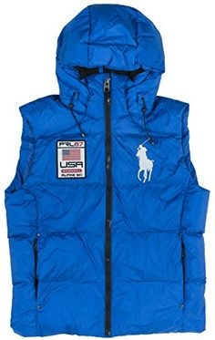 Polo Ralph Lauren Big Pony Alpine Ski Patch Puffer Vest (S, Sapphire) RALPH