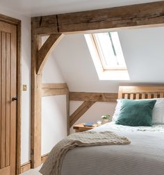 master bedroom with velux windows