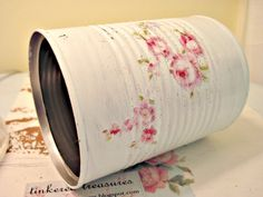 tinkered can - cottage roses