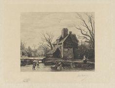 Wintergezicht met ijsvermaak, Willem Steelink (II), 1888 - 1891