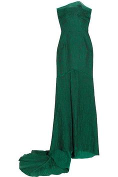 Roland Mouret - Turret Strapless Cloqué Gown - Green - UK14