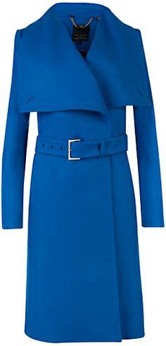 Ted Baker Madigan Draped Front Coat, Blue on shopstyle.co.uk