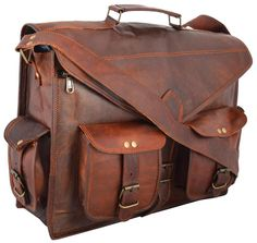 Handmadecraft Abb 18 Inch Vintage Handmade Leather Messenger Bag For Laptop  B.. 59d8ce949fa23