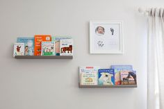 Newborn photography by Tulips and Tangerines Photography - picture ledges, gender neutral nursery, nursery photography