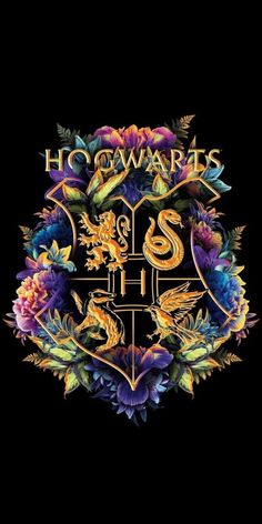 "Harry Potter Poudlard Poudlard Signe Wall Art Matt Black /& Gold Large 12/"""