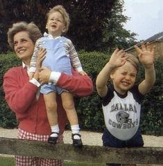 Princess Diana, Prince William and Prince Harry - 1986