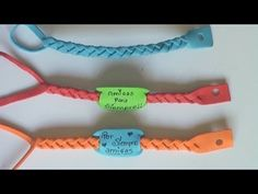 manualidades -  pulsera de goma eva . Foamy bracelet