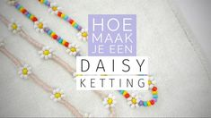 Daisy Bracelet, Bead Loom Bracelets, Loom Beading, Jewels, Beads, Creative, Handmade, Crafts, Jewerly