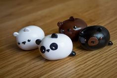 Kawaii Chibi Bears Polymer Clay Figures Made to by HappyHuskyy, $15.00