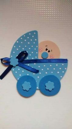 Baby-Wagen Source by frankrotherm Distintivos Baby Shower, Baby Shower Crafts, Shower Bebe, Baby Crafts, Diy And Crafts, Paper Crafts, Shower Gifts, Baby Boy Cards, New Baby Cards