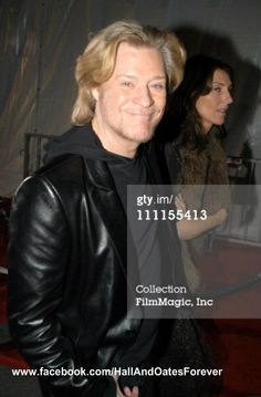 This Jan. 13th, 2003 shows Daryl Hall and Amanda Aspinall backstage at the 30th Annual American Music Awards. Like this photo? Please join my FB page to see more! www.facebook.com/HallAndOatesForever