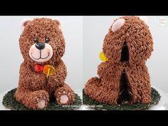 Un Cake, Big Cakes, 3 D, Teddy Bear, Pasta, Youtube, 3d Cakes, Deserts, Modeling