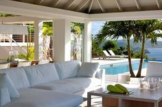 Amazing Hotels and Vacation Rentals – One Kindesign architecture Outdoor Rooms, Outdoor Living, Outdoor Furniture Sets, Outdoor Decor, Indoor Outdoor, Coastal Homes, Coastal Living, Caribbean Homes, St Barts