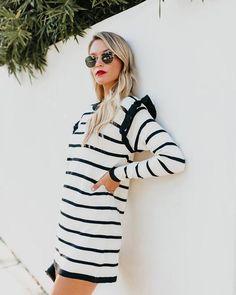 afe078f587 Beau Monde Striped Sweater Dress Jeggings